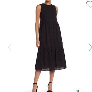 Spirit of Grace Plaid Print Tiered Midi Dress XS